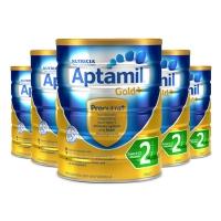 【新西兰直邮】Aptamil爱他美金装2段 900g 6罐原装箱 直邮 20.07