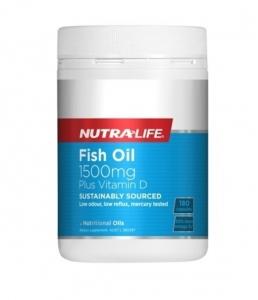 Nutralife纽乐 高含量深海鱼油 含维生素D 1500mg 180粒