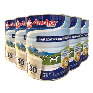 新西兰直邮ANCHOR 安佳全脂成人奶粉罐装 900g X 6罐一箱 日期20.08