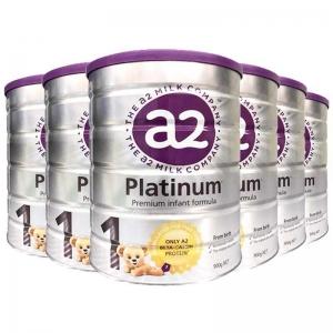 a2白金 a2高端白金奶粉1段 0-6个月 6罐1箱 新西兰直邮  新包装