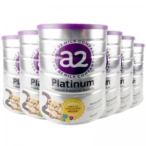 a2白金   a2高端白金奶粉2段 6-12个月 6罐1箱 新西兰直邮 新包装