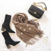 YPL 羊驼绒星空变色围巾