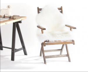AUSKIN 澳世家 长羊毛羊皮垫纯色皮地毯 95cm Ivory 象牙白色