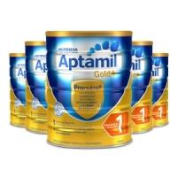 签名+报纸+拍照【新西兰直邮】Aptamil爱他美金装1段 900g 6罐原装箱 直邮