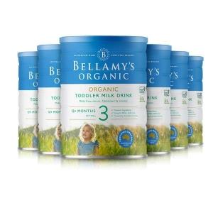 7天极速清关 BELLAMY'S有机婴儿奶粉贝拉米3段 6桶一箱 新西兰直邮 需要身份证号码