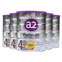 a2白金    a2高端白金奶粉4段 3岁以上 6罐1箱 新西兰直邮 新包装