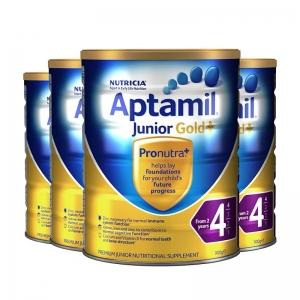 签名+报纸+拍照 【新西兰直邮】Aptamil爱他美金装4段 900g 6罐原装箱 直邮