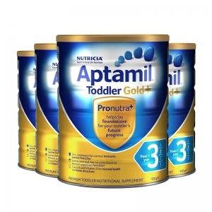 签名+报纸+拍照 【新西兰直邮】Aptamil爱他美金装3段 900g 6罐原装箱 直邮