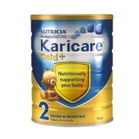 【特快线】新西兰直邮  Karicare可瑞康金装牛奶粉 2段 6罐1箱 900g 6-12个月