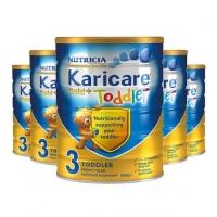 【特快线】新西兰直邮  Karicare可瑞康金装牛奶粉 3段 6罐1箱 900g 12-24个月