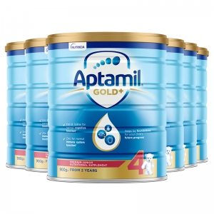 【特快线新西兰直邮】Aptamil爱他美金装4段 900g 6罐原装箱 直邮