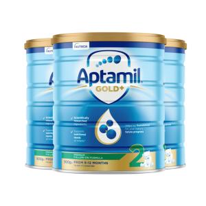 【新西兰直邮】Aptamil爱他美金装2段 900g 6罐原装箱 直邮
